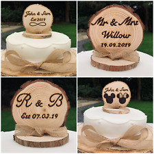 Personalised Wooden Cake Topper Custom Party Decoration Any Text Wedding Cake