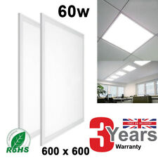60W Ceiling Suspended Recessed LED Panel White Light Office 600x600 5500 LUMENS