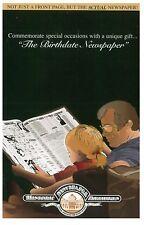 Birthday Newspaper Nicely Presented 1918 1928 1938 1948 1958 1968 1978 1997 2000