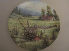 The Forgotten Plow collector plate Maurice Harvey Country Nostalgia Hand Plow