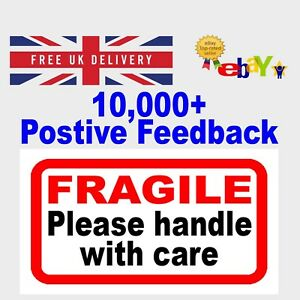 Fragile Handle with Care - Letter Parcel Label - Postage Stickers  10 25 50 100