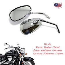 Long Stem Chrome Motorcycle Rear View Mirrors For Honda Shadow VLX 600 VTX1300