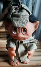 Thomas Dam Made in Denmark Troll Dedektiv Detective Gnome 1977 25cm Sherlock
