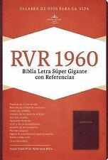 Rvr 1960 Biblia Letra Super Gigante, Borgona Imitacion Piel Con Indice (Leather