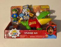 Ryan's World SPLASHIN' GUS Vehicle & Action FIGURE Surprise Mystery Toy New