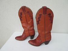 Women's Brown Justin Leather Lizard Western Cowboy Boots shoes size 6.5 B heel