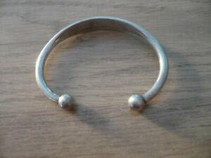 Bracelet ancien argent massif 25,4 Grs
