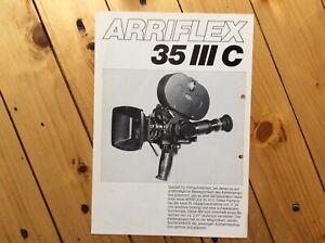 Infoblatt Filmkamera Arriflex 35 III