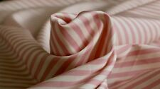 VISCOSE FABRIC - STRIPE DESIGN - DUSTY PINK AND CREAM