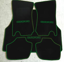 Autoteppich Fußmatten Kofferraum Set Ford Capri 2-3 schwarz-dunkelgrün 5tlg. Neu