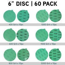 6'' Wet Dry Sanding Discs Tabs 60PCS Sandpaper Random Orbital Sander Sand Paper
