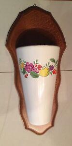 Vase mural sur support bois (B1)
