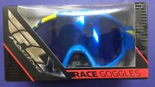 Fly Racing Adult Zone Goggles Blue/Yellow Frame Blue/Smoke Lens