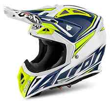 CASCO MOTO CROSS ENDURO AIROH AVIATOR 2.2 READY BLU GIALLO HUSQVARNA 2017 TG S