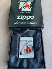 Brand New Zippo 75th Anniversary limited edition lighter with Swarovski Crystal