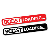 Boost Loading Red & Black Sticker Decal JDM Car Drift Vinyl Funny Turbo #5177EN