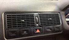 3D Black Carbon Fibre Effect Air Vents to fit VW Golf Mk4 TDI GTI R32 VR6