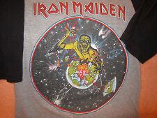Vintage IRON MAIDEN Concert T-Shirt Tour Shirt 1983 Size Md World Piece Tour