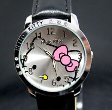 Reloj HELLO KITTY watch black negro con brillantes. Buena calidad. A1784