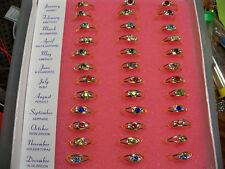Adjustable Crystal Birthstone Month Ring Childrens