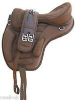 """New Synthetic All Purpose Treeless Saddle BROWN  Size 17""""+ free Girth offer"""
