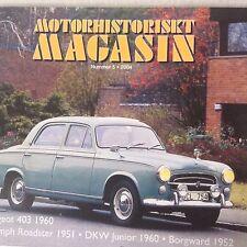 Motorhistoriskt Swedish Car Magazine Peugeot 403 1960 No.5 2004 081517nonrh