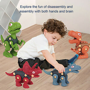 Take Apart Dinosaur Toy Construction Building Toys For Kids 3-5 W/Electric Drill