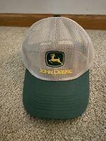 Vintage JOHN DEERE All Mesh Snapback Trucker Patch Cap Hat