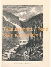501 Engelhardt stuibenfall Ötztal arte hoja 32 x 22 cm aproximadamente 1880!!!