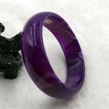 Vintage Chinese Beautiful Lavender Purple Jade Gems Bracelet Bangle 60mm