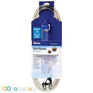 """Aqueon Siphon Vacuum Gravel Cleaner Medium 9"""" Self Priming with Bucket Hose Clip"""