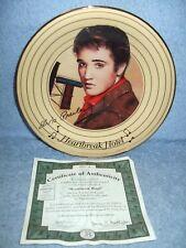 Bradford Exchange Collectible Plate Elvis Presley Heartbreak Hotel w/ Coa