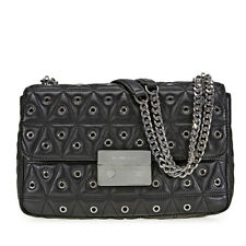 Michael Kors Sloan Large Studded Shoulder Bag- Black