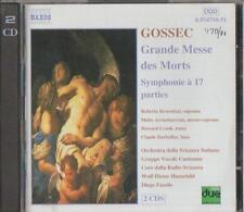 C.D.MUSIC  E62   GOSSEC:GRANDE MESSE  DES MORTS  SYMPHONIE  a17  PARTIES 2 DISC