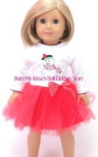Snowman Tutu Dress Christmas 18 in Doll Clothes Fits American Girl