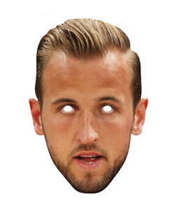 Harry Kane Single 2D Card Party Face Mask Football Captain of England