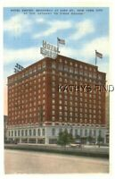 NY POSTCARD D+9550 HOTEL EMPIRE, BROADWAY AT 63rd ST, NYC - STAMP 1939