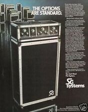 1974 SG Systems - The Options Are Standards Vintage Ad