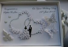 Handmade Personalised 3D Luxury Wedding Day / Anniversary Card with GIFT BOX