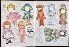 MayBea Paper Doll, Peggy Jo Rosamond Artist, Mag. Pd. 1986, The Doll Who Dreams