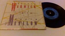 "Dionne Warwick Run To Me 7"" Arista ARIST610 nm/EX 1985 Run To Me/Heartbreaker"