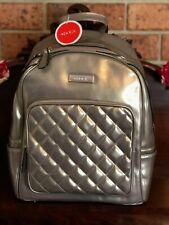 DOCA AUTHENTIC BACKPACK WOMEN'S FASHION MADE IN GREECE SILVER
