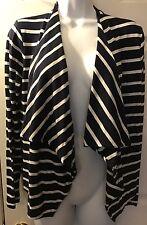 J.CREW Always Cardigan In Stripe Navy Blue White Knit Cascading #68140 Sz S