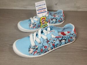 SKECHERS Beach Bingo-Good Trick BOBS Dr. Seuss Women Sz 7.5 Blue Shoes 113593
