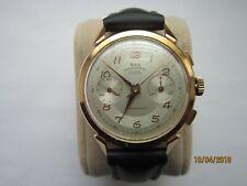 Rare Montre Chronographe Suisse Or 18 k Tête d'aigle Landeron 54