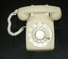 Vintage, Stromberg, Beige/Gray Rotary Dial Desk Phone Telephone