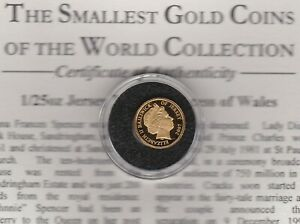 SMALL 2007 JERSEY DIANA £1 GOLD COIN IN MINT CONDITION + CERTIFICATE