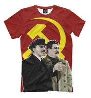 Lenin and Stalin t-shirt - leaders of the revolution socialism USSR Ленин Сталин