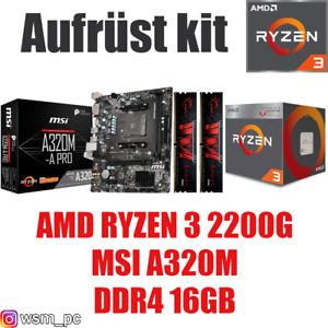 AMD 🆁🆈🆉🅴🅽 3 2200G ● MSI Mainboard ● 16GB RAM ● Ryzen PC Bundle Kit + GRAFIK