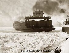 Michigan Central Railroad Car Ferry on Detroit River c1900 -Historic Photo Print